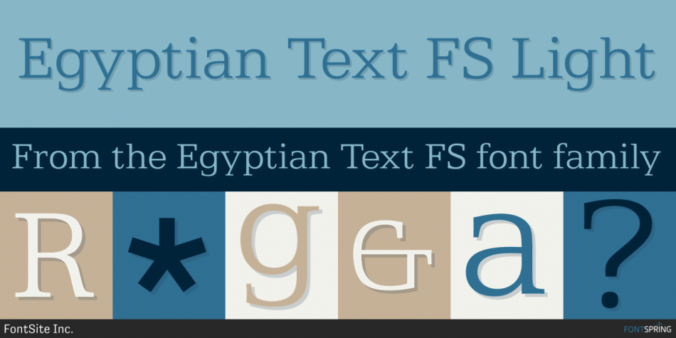 Egyptian Text FS Font