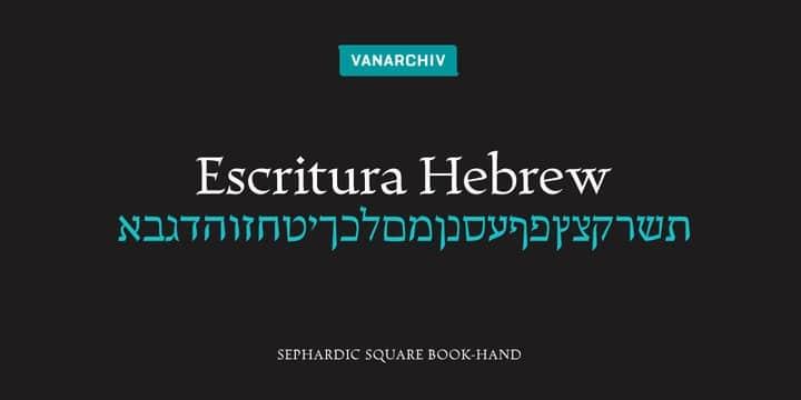 Escritura Hebrew Font