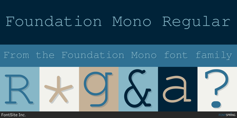 Foundation Mono Font