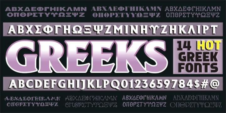 Greek Font Set Font