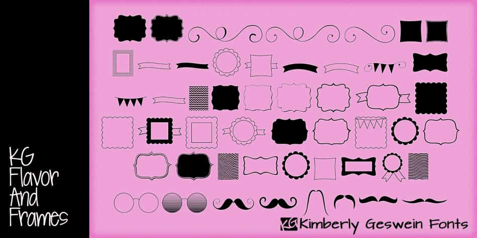 KG Flavor and Frames Font
