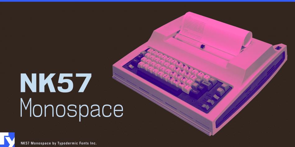 NK Monospace Semi Condensed Font