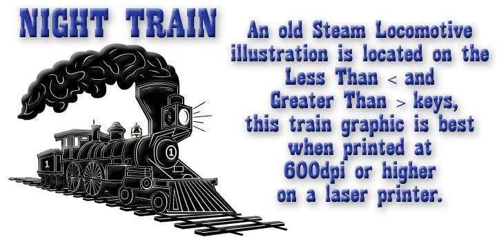 Night Train Black Font