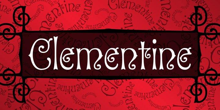 P Clementine Font