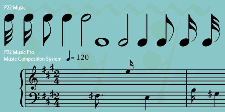 P Music Font