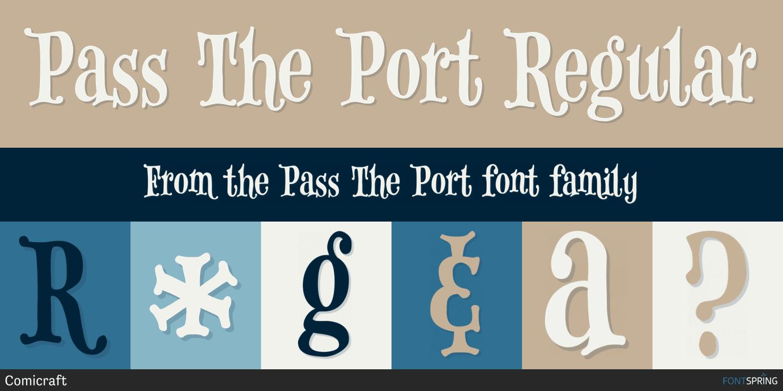 Pass The Port Font