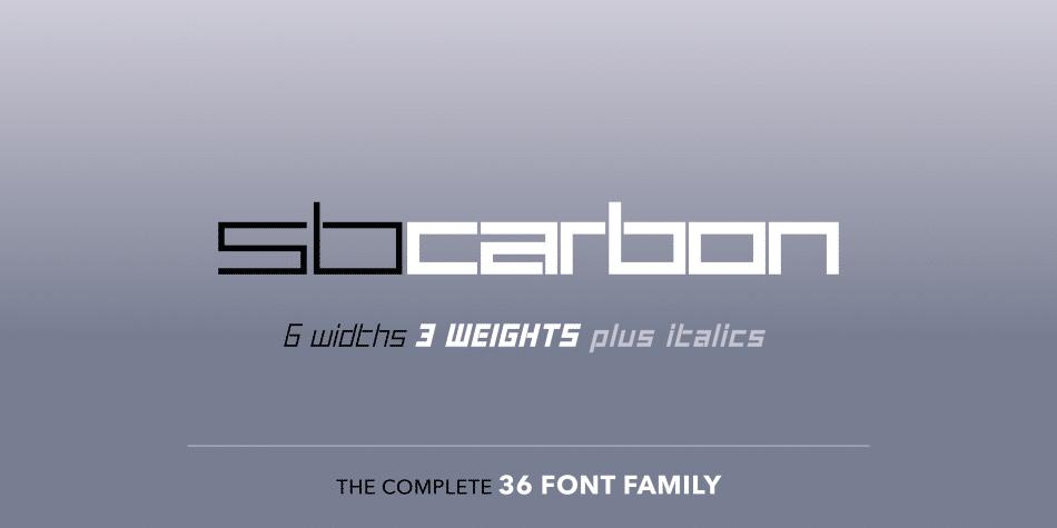 SB Carbon Font