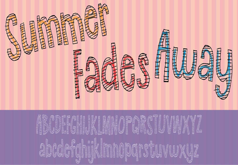 Summer Fades Away Font