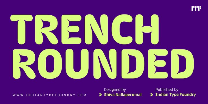 Trench Rounded Font
