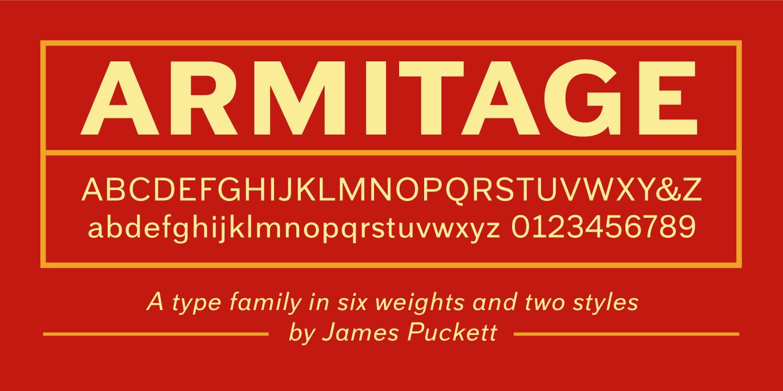 Armitage Font