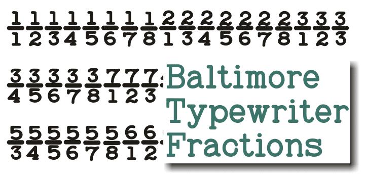 Baltimore Typewriter Font