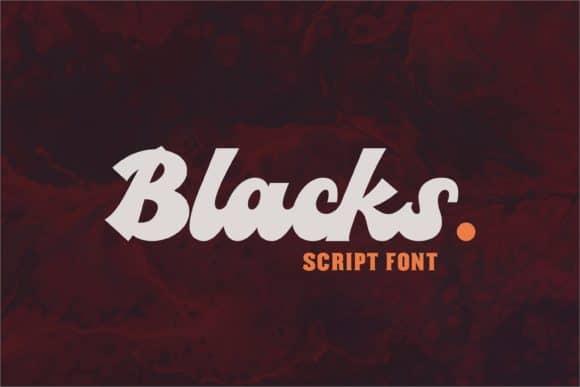 Blacks Font