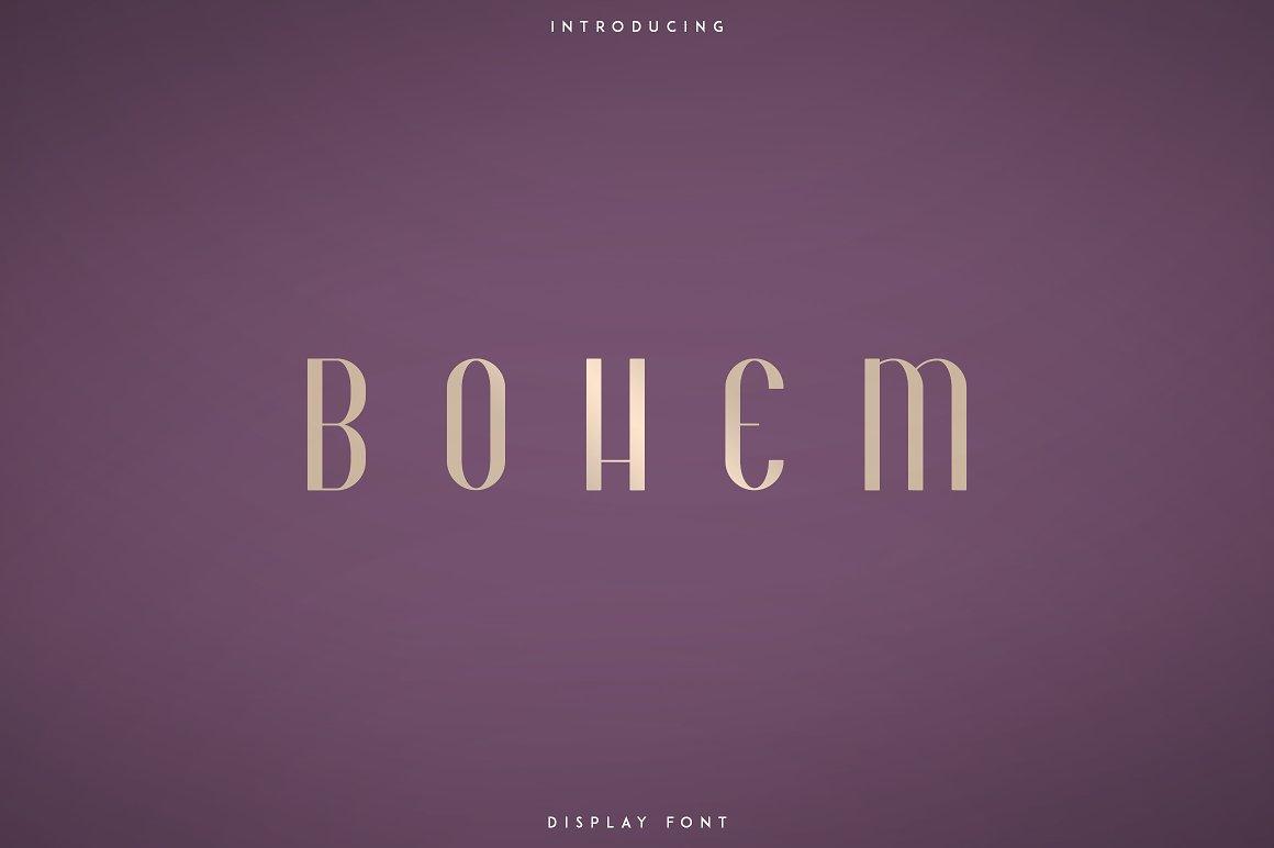 Bohem Display Font Styles