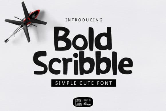 Bold Scribble Font