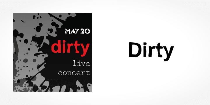 Dirty Font