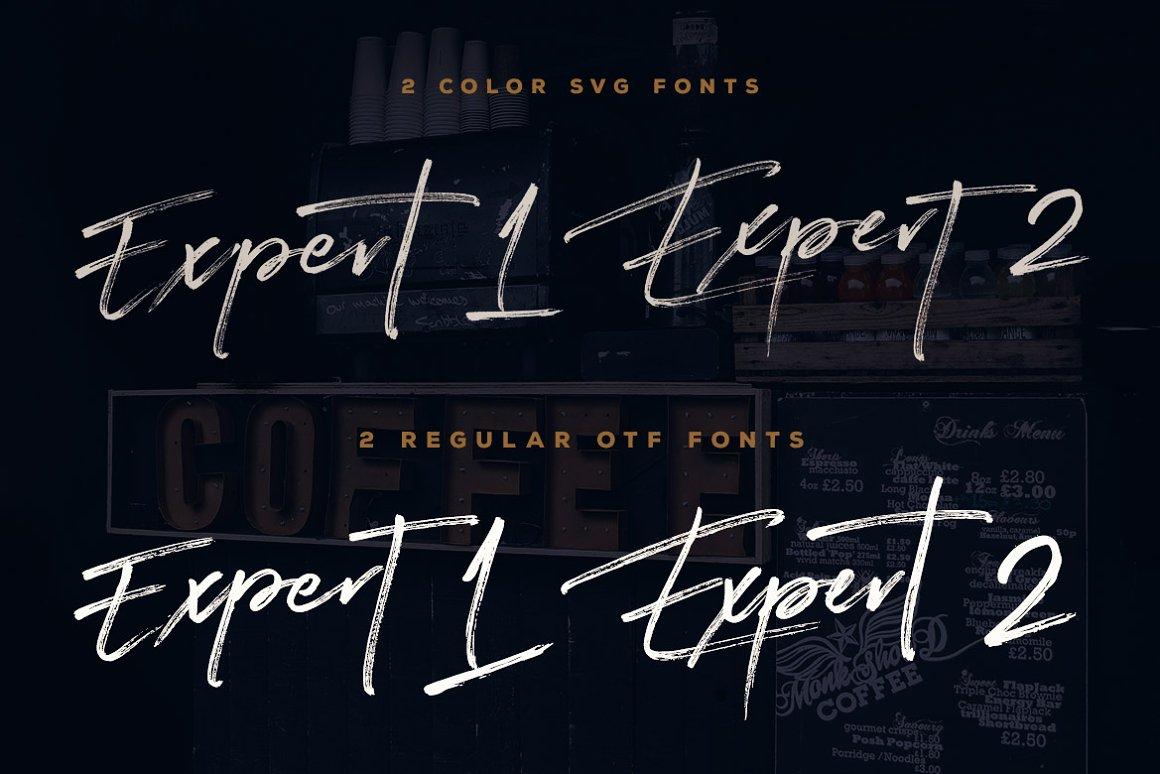 Expert Brush Font