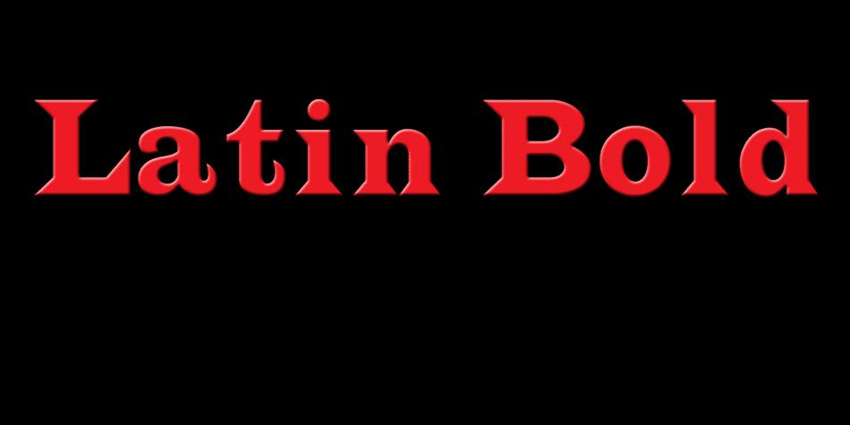 Latin Bold Font
