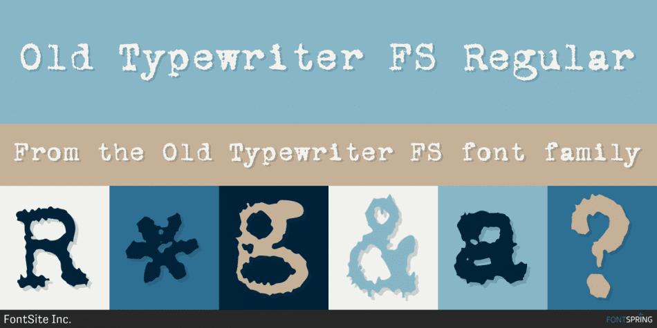Old Typewriter FS Font