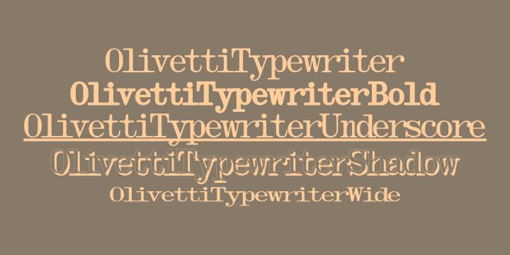 Olivetti Typewriter Font