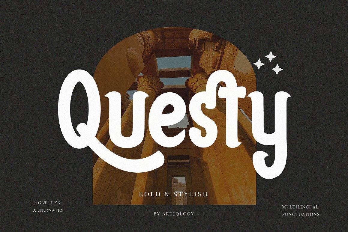 Questy Stylish Display Font