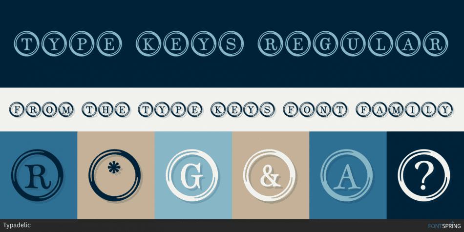 Type Keys Font
