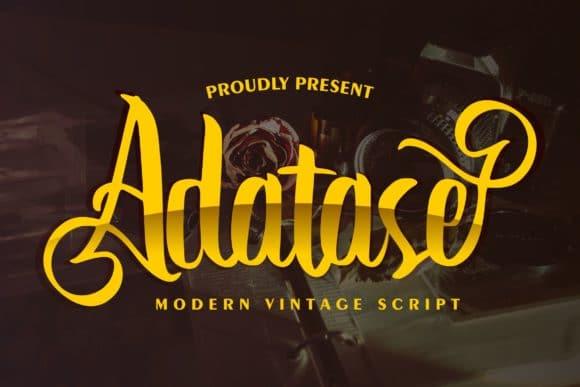 Adatase Modern Vintage Script Font