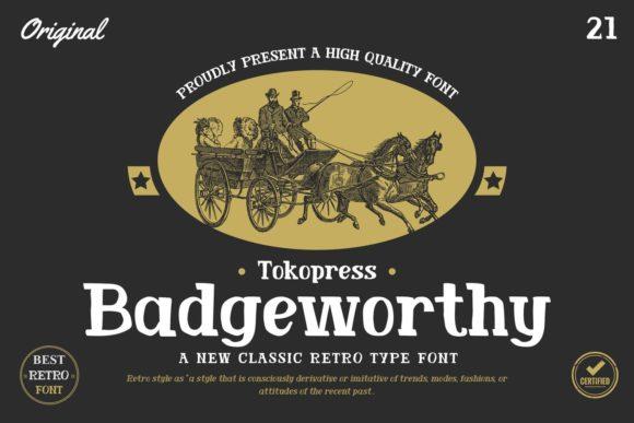 Badgeworthy – Retro Font