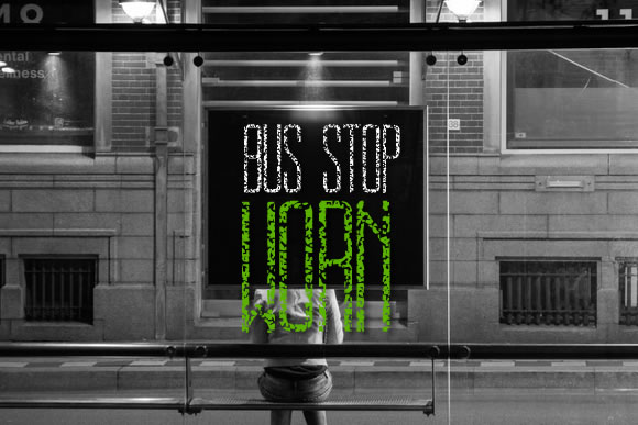 Bus Stop Worn Font