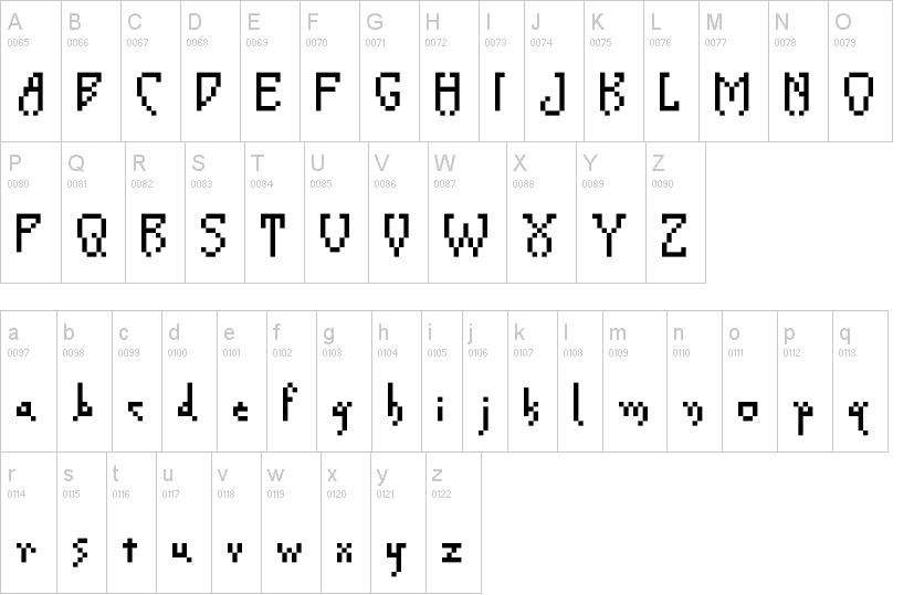 Creeper Pixel Font