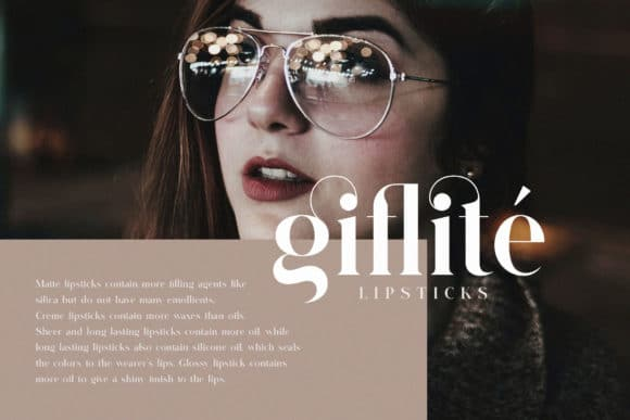 Glitten Ligature Serif Font