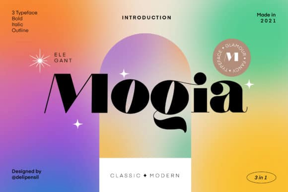 Mogia Modern Classic Typeface