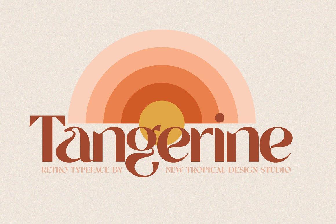 Tangerine Retro Font