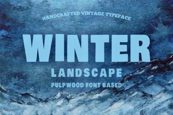 Winter Landscape Font